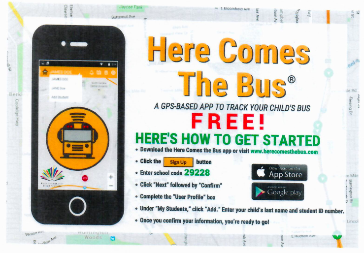 Here Comes the Bus app helps manage the timing for the bus stop