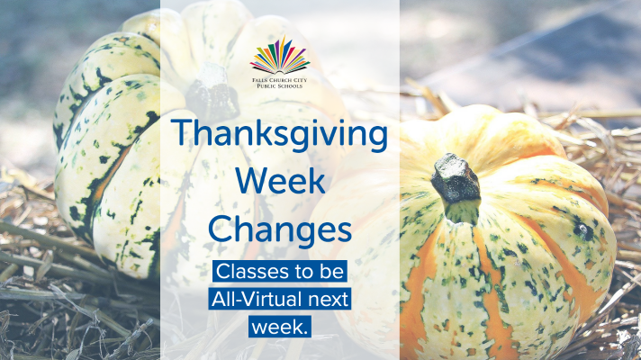 Dr. Noonan Announces Thanksgiving Week Changes
