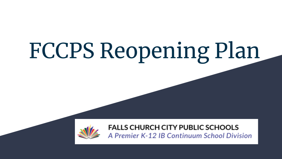 Reopening Plan - A Return to School August 24th