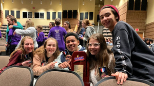 One-Act Theatre Performers Earn First Place