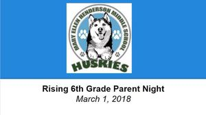 Rising 6th Grade Parent Night