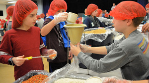 Assembling 33,000 Meals for Madagascar