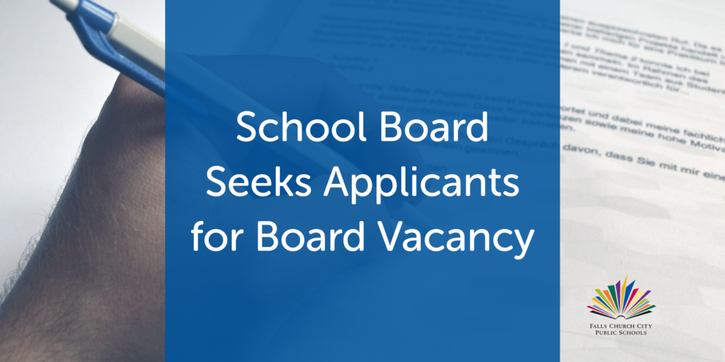 School Board Seeks Applicants for Vacancy
