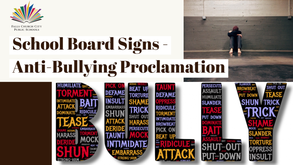 School Board Signs Anti-Bullying Proclamation