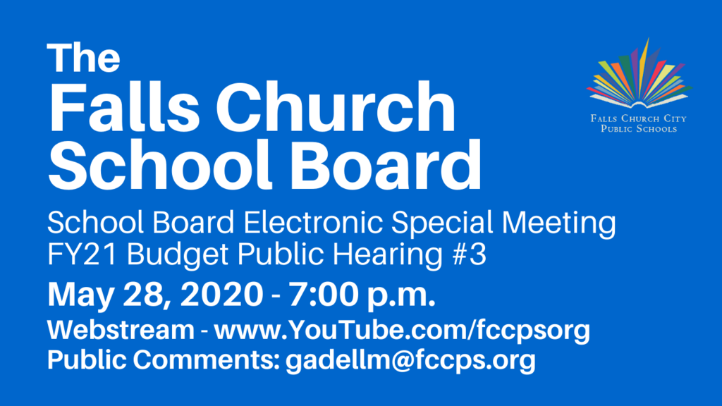 FCCPS School Board Meeting graphic